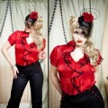 5TH AVE BLOUSE.RED 2000