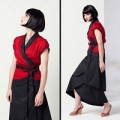 KIOKI WRAP TOP. BL.RED 2000