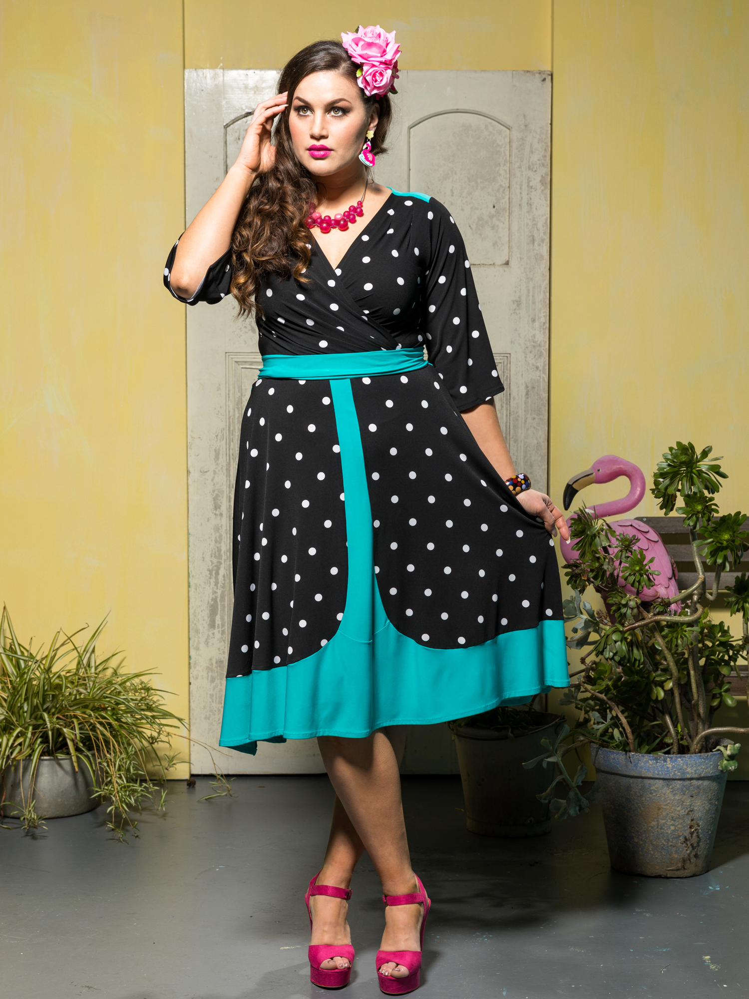 45 Salsa Swing Dress. lunares3.1500.2000