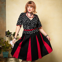 Cardinale.stellina. & Roman Holiday Skirt. blk.red 2.thumb